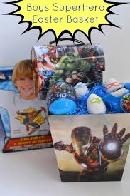 easter basket boy marvel boys easter basket our thrifty ideas
