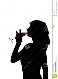 wine glass silhouette silhouette woman drinks wine from wine glass royalty free stock