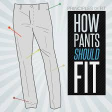 how pants should fit the principles of fit primer
