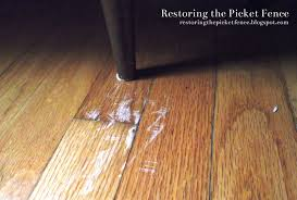 Laminate Floor Glue Restoring The Picket Fence Simple Fixes Removing Scratches From