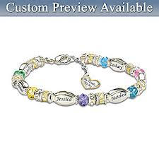 custom birthstone bracelets personalized birthstone bracelet my family my
