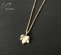 leaf charm necklace images Tiny maple leaf charm necklace jpg