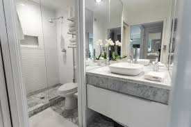 Bathroom  High End Bathrooms Wooden Frame Mirror Bathroom Black - Elegant white cabinet bathroom ideas house