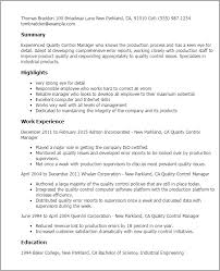 Quality Resume Samples by Trendy Idea Quality Control Resume 13 Quality Assurance Resume