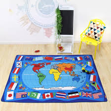 tappeto lavatrice 2017 dei bambini mondo mappa e bandiera tappeto di cotone e