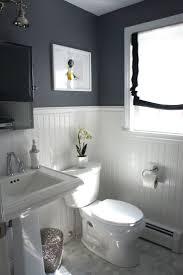 basic bathroom ideas bathroom brick wall shower curtain white tile flooring mirror