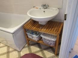 pedestal sink storage ikea molger shelf customized for sink diy projects pinterest
