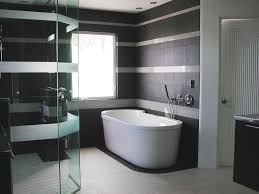 modern small bathroom remodel idea incorporating large windows