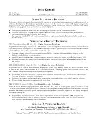 Best Technical Resumes by Electronic Technician Resume Samples Resume Format 2017