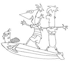 phineas ferb coloring pages coloringsuite