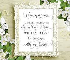 sale 70 in loving memory sign printable wedding memorial sign