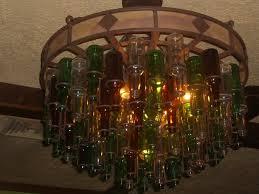 Glass Bottle Chandelier On The Border Beer Bottle Chandelier Yelp