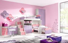 sweet purple and pink bunk with double stairs extra storage unique