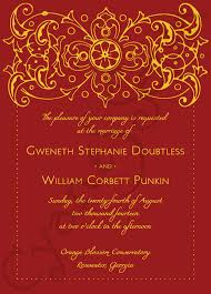 indian wedding card sles printable wedding invitation ornate other colors