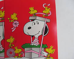 snoopy cards etsy