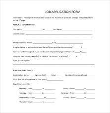 simple printable job application template simple job application form print employment formresume for ideas