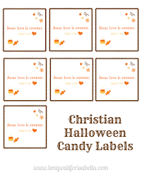 halloween lables print out these free christian halloween candy labels