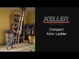 keller compact attic ladder how it works youtube