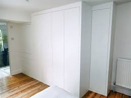 Fitted Furniture Bedroom Bedroom Built In Bespoke Fitted Wardrobe White Push Open Modern