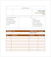 Insurance Quote Sheet Template Sle Repair Quotation Computer Amc Format Computer Amc Tender
