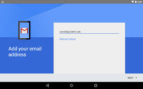 android email setting up email in android