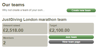 how to add your page to a company team page justgiving help