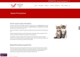vet website design project for village vets in formby uk