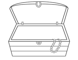 open treasure chest coloring coloring