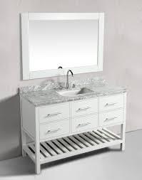 54 Bathroom Vanity 54 Inch Transitional Single Sink Bathroom Vanity Set White Finish