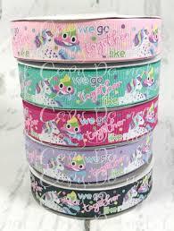 glitter ribbon wholesale 7 8 we go together like unicorn ribbon emoji poo ribbon