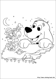 clifford u0027s christmas coloring picture clifford