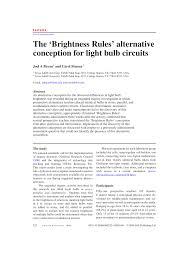 the u0027brightness rules u0027 alternative conception for light bulb