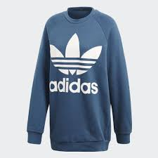 adidas sweater adidas trefoil oversize sweatshirt grey adidas us