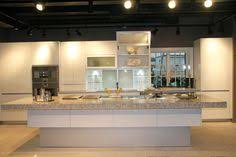 kitchen and bath showroom island sleek modern kitchen looks like a posh contemporary office