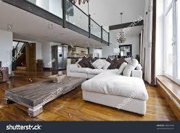 luxury duplex floor plans open plan living room luxury duplex stock photo 36814444
