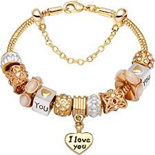gold love you bracelet images Quot i love you with all my heart quot gold tone love heart jpg