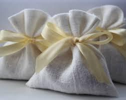linen favor bags linen etsy