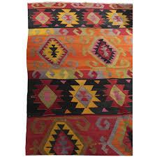 Kilim Rug Viyet Designer Furniture Rugs Vintage Red And Orange Kilim Rug