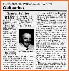 obituary examples bio example