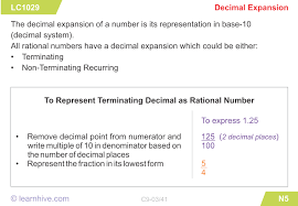 learnhive icse grade 9 mathematics number system rational and