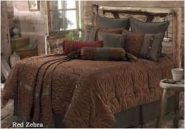 Ducks Unlimited Bedding Red Zebra Super Queen Comforter Western Bedding Crystal Creek