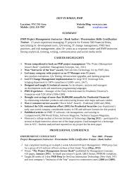 pmo director resume basic training manager resume template
