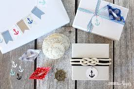 nautical wrapping paper nautical gift wrapping ideas a spoonful of sugar