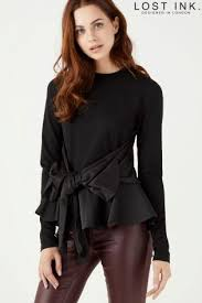 big bow blouse buy lost ink big bow peplum blouse from the uk shop