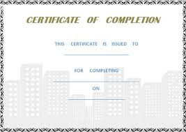 certificate of completion of works template image collections
