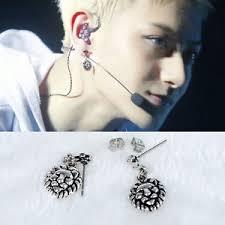 exo earrings kpop exo tao same style earring lion print piercing stud ear