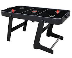 foldable air hockey table amazon com funmall 5 ft outdoor indoor folding air hockey game