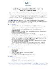 Retail Resume Duties Cover Letter Retail Sales Associate Sample Resume Retail Sales