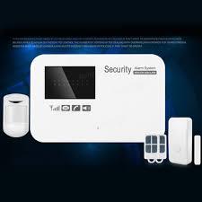 433mhz wireless gsm security burglar alarm system app control for