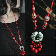ethnic necklace design images Newest original design handmade woven long ethnic necklace vintage jpg